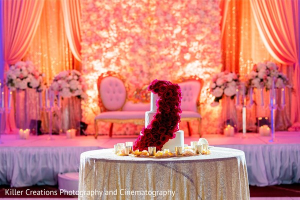 Marvelous Indian wedding cake table.