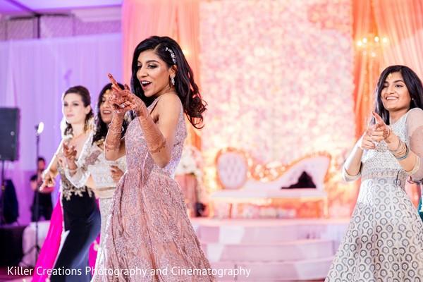 Indian bridal reception dance capture.