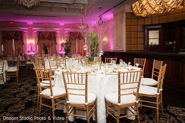 Incredible Indian wedding reception lights decor.