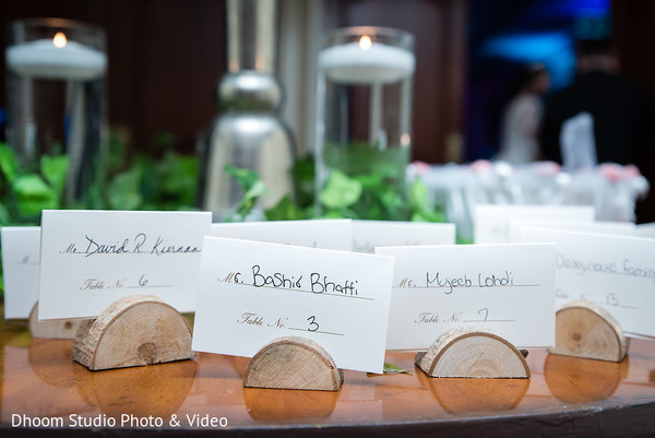 Incredible Indian wedding table place cards decorations.