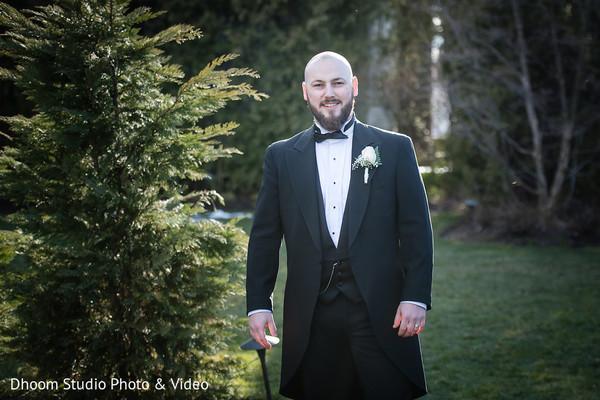 Elegant Indian groom.