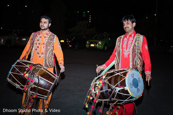Indian drummers ready for the reception party.