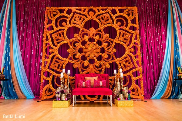 Fabulous sangeet stage decor