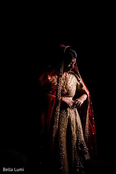 Elegant indian bride wedding ceremony outfit
