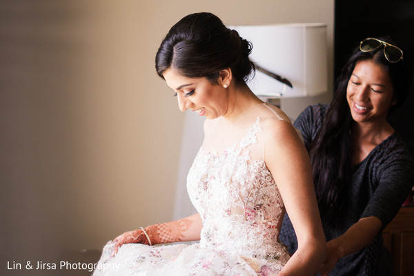 Gorgeous bride getting ready for the gala.
