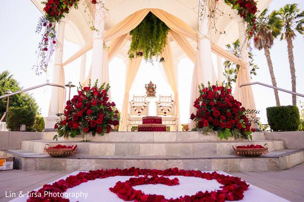 Indian wedding mandap decor.