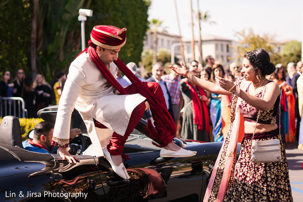 Indian groom and bride looking stunning.