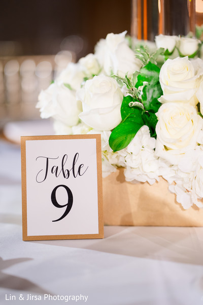 Details of the table's decor.