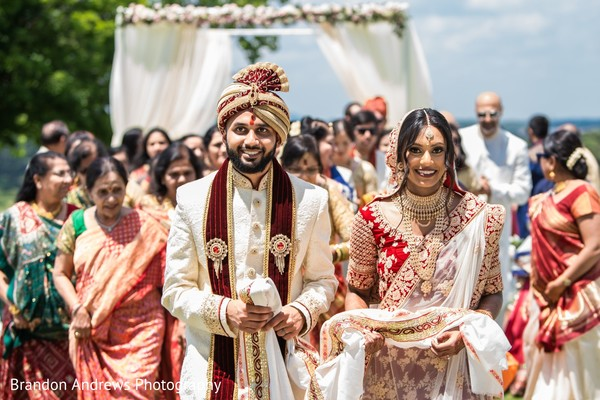 Happily married Indian couple.