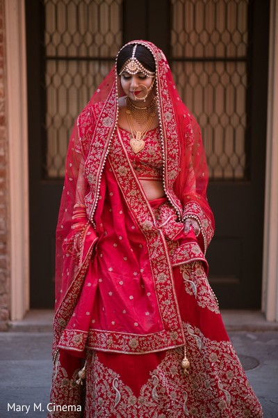 Astonishing indian bride's wedding outfit