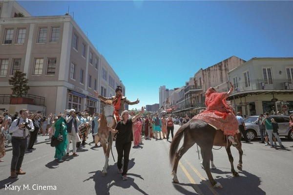 Indian groom riding baraat horse