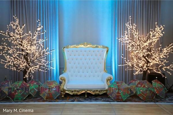 Stunning Indian wedding reception decoration