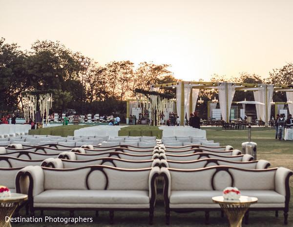 Indian wedding ceremony decor.