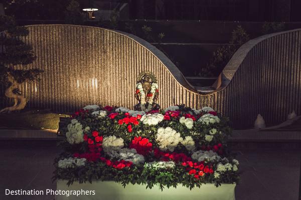 Stunning Indian wedding God statue decor.
