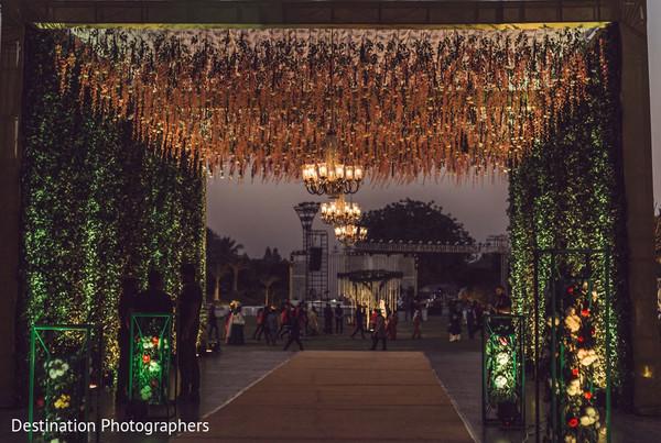 Marvelous Indian wedding entrance decor.