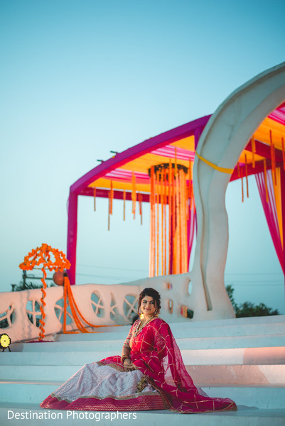 Dreamy Indian bridal photography.