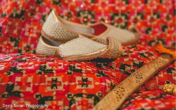 Shoes used by Indian groom.