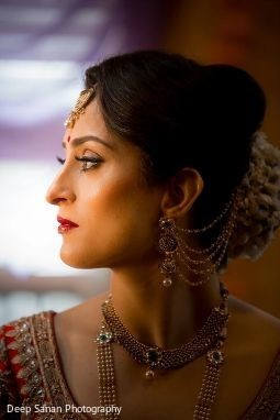 Indian bride looking stunning.