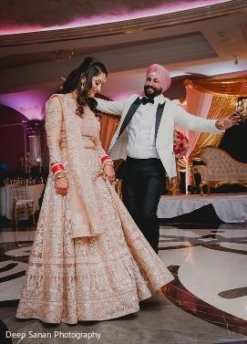 Indian groom and bride looking amazing.