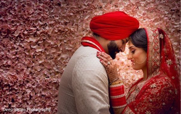 Indian bride and groom looking amazing.