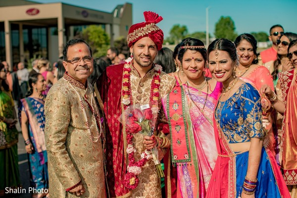 Indian groom with relatives capture.