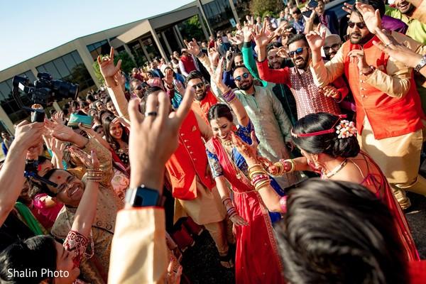 Incredible baraat procession dance.
