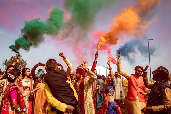 Upbeat indian wedding baraat.