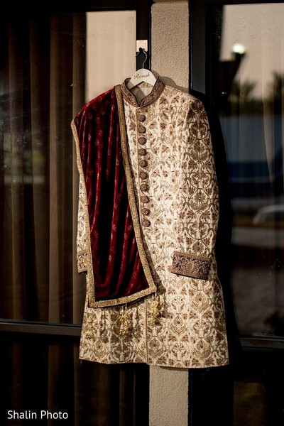 Incredible Indian groom's traditional ceremony sherwani.