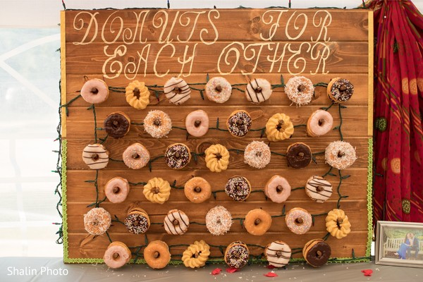 Incredible Idea for Indian wedding sign with doughnuts.