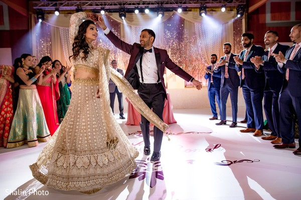 Dazzling dance capture of Indian couple.