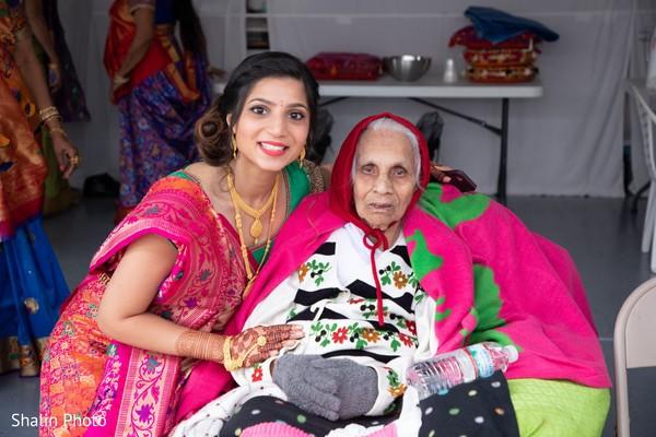 Maharani posing with relative.