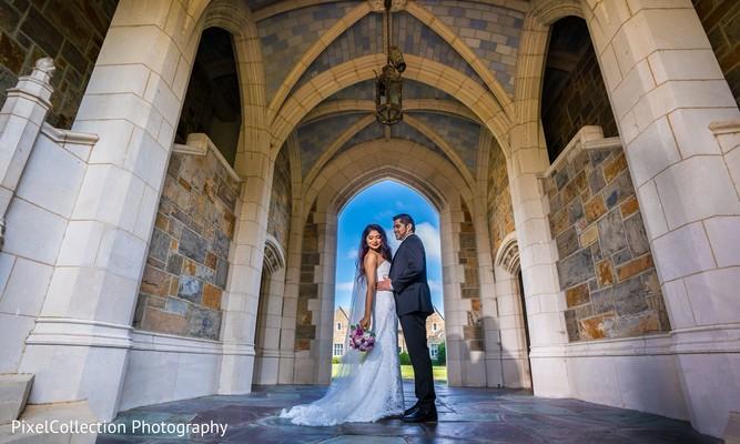 Ravishing indian bride and groom outdoor photography
