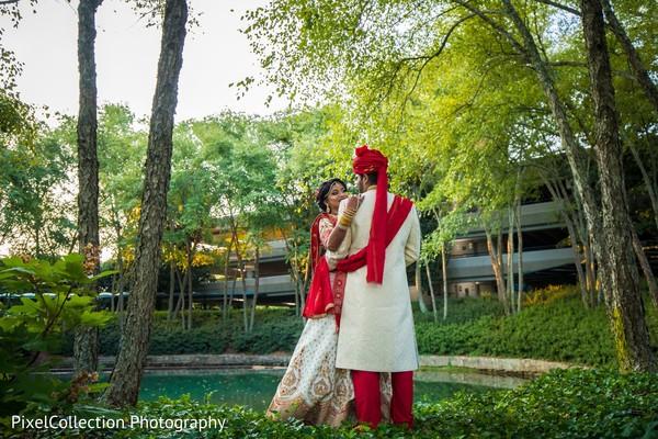 Outdoor gardens Indian wedding photo shoot
