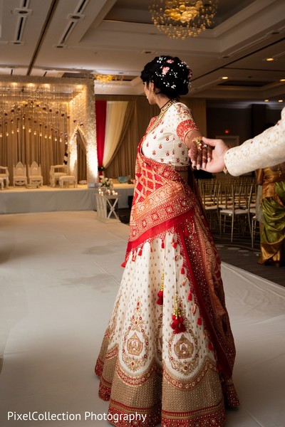 Stunning indian bride fabric details