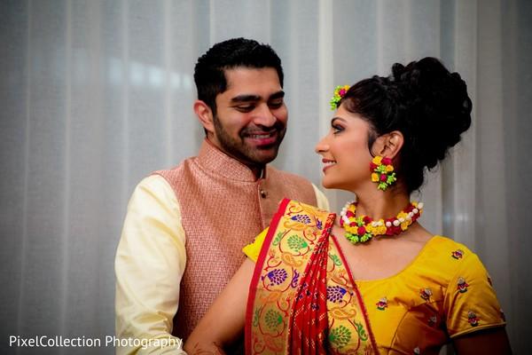 Glamorous indian bride's portrait