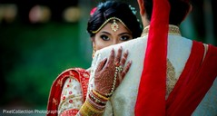 Adorable indian bride hugging to the groom