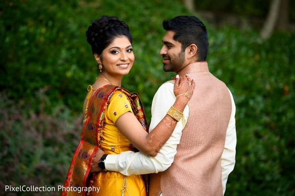 Majestic indian bride and groom photo session