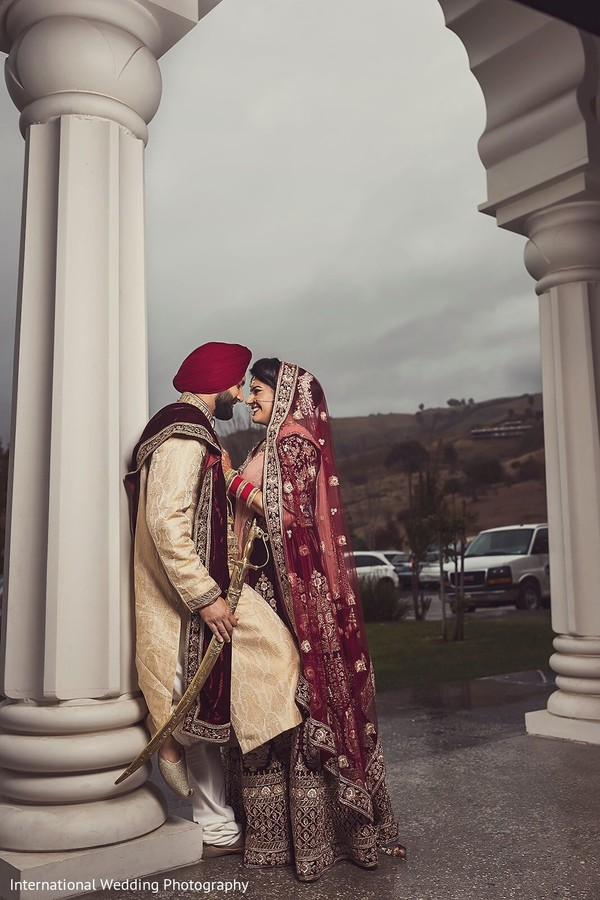 Romantic and charming Indian couple photo shoot.