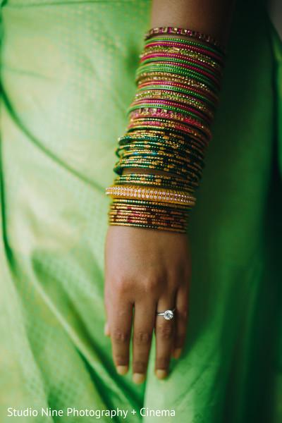 Impressive indian bride's bangles
