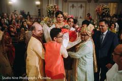 Impressive Indian bride's doli entrance to wedding ceremony