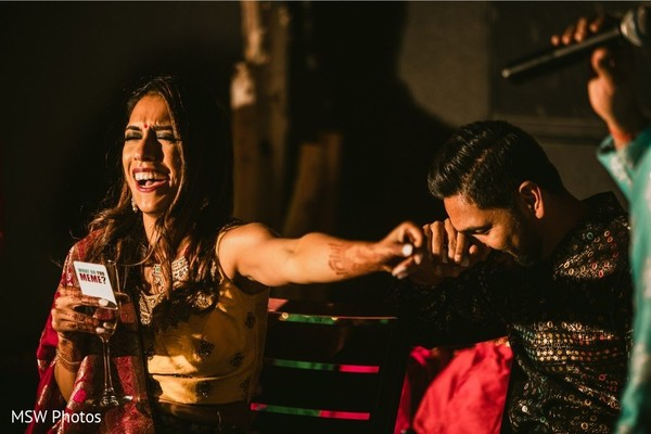 Indian couple having fun capture.