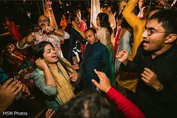 Upbeat indian sangeet celebration.