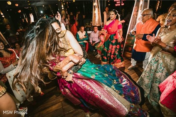 Upbeat India Sangeet dance.