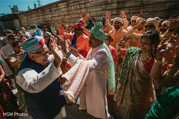 Indian relatives pre-wedding celebration.