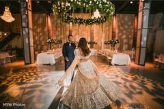 Upbeat indian bride and groom capture.