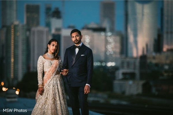 Phenomenal indian couple's reception photo shoot.