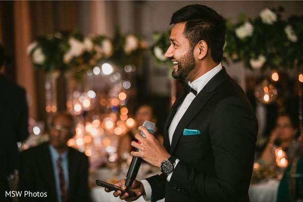 Indian groomsmen speech moment.