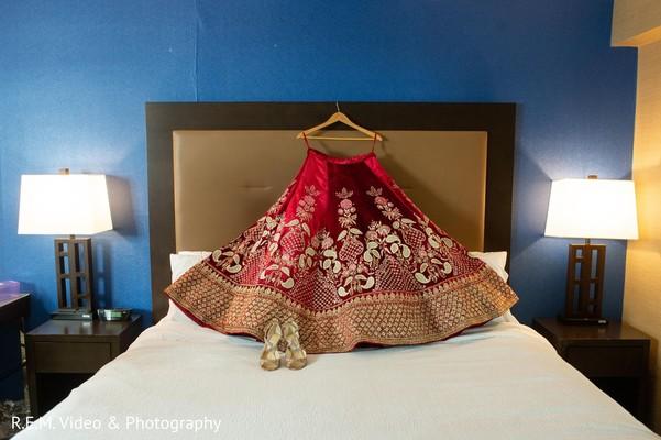 Incredible Indian bridal ceremony lehenga.