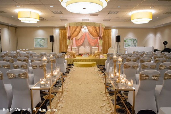 Amazing Indian wedding ceremony venue decoration.