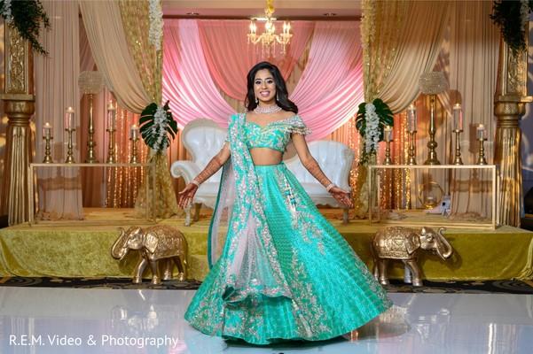 Striking maharanis reception look.